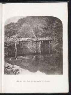 Premier pont en bois construit à Tahiti (1880)