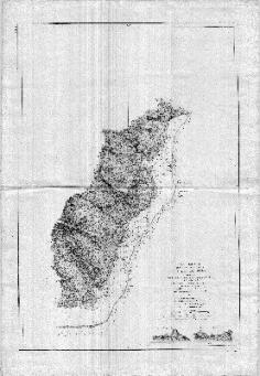 Carte de la côte est de Moorea (1877)