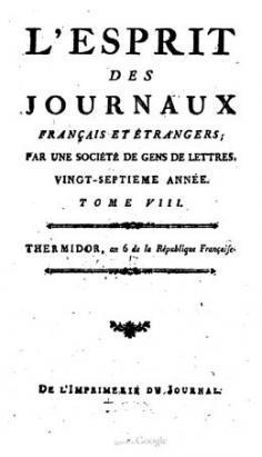 L'esprit des journaux – Lettres de Commerson (1798)