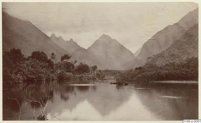 Paysage de l'intérieur de l'île de Tahiti (1886)