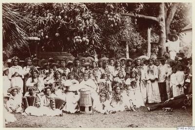 Groupe de musique de l'île de Tahiti (1886)