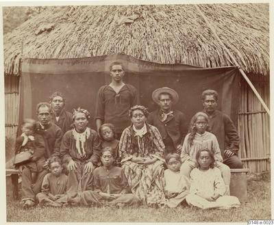 Portrait d'une famille tahitienne (1886)