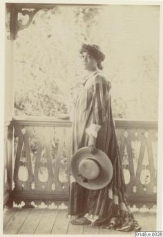Jeune femme tahitienne au chapeau (1886)