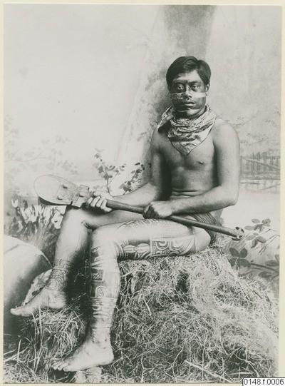 Marquisien tatoué au foulard (1886)