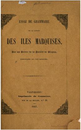 Essai de grammaire de la langue des Îles Marquises (1857)