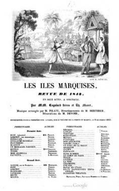Les îles Marquises, revue en 2 actes (1843)