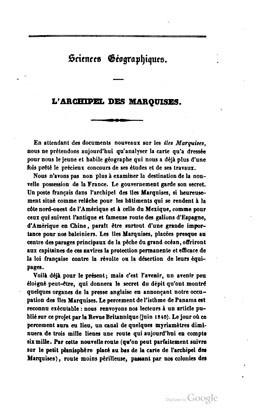 Revue britannique :  L'archipel des Marquises (1843)