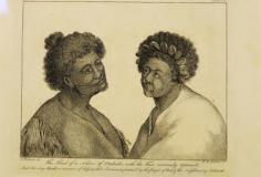 Portrait de natifs de Tahiti ayant de curieux tatouages (1773)