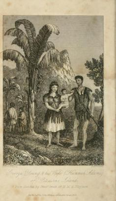 George Young & his wife (Hannah Adams) of Pitcairns island (1831)