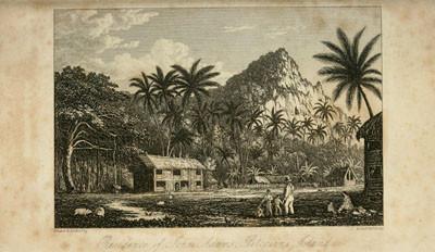 Residence of John Adams, Pitcairns island (1831)