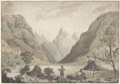 Vue intérieure de la baie d'Oitapeeah dans l'île Otaheite (1777)