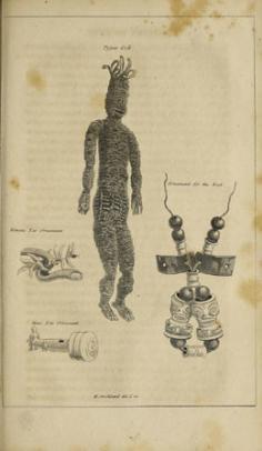 Dieu de Taipivai, ornement de cou, ornements d'oreille pour femmes et hommes (1815)