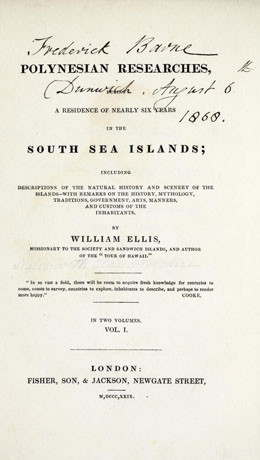 Polynesian researches, during residence of nearly six years in the South Sea Islands – Vol.1 (1829)