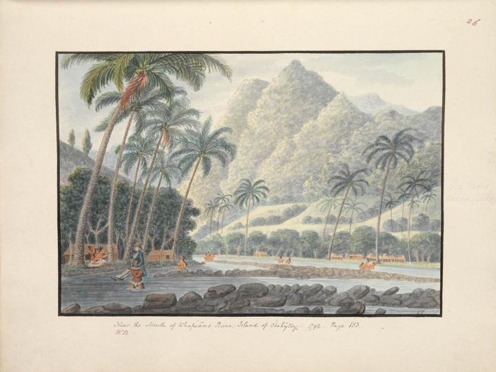 Embouchure d'une rivière à Tahiti (1792)