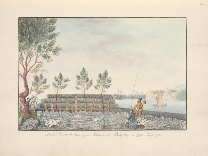 Ahu du marae de Oparrey (1792)