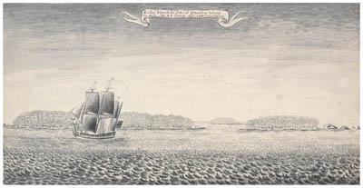 Dessin de Samuel Wallis : Paraoa (1767)