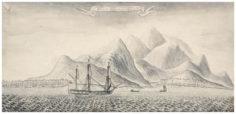 Dessin de Samuel Wallis : Moorea (1767)