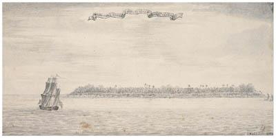 Dessin de Samuel Wallis : Pinaki (1767)