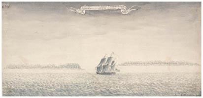 Dessin de Samuel Wallis : Manuhangi & Nengo Nengo (1767)