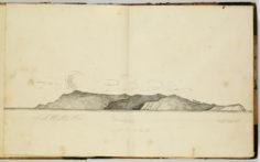 Profil de la côte de Hiva Oa (1837-1840)
