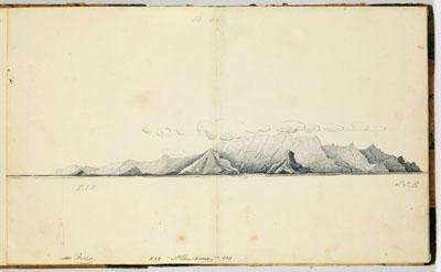 Profil des côtes de Tahuata (1837-1840)