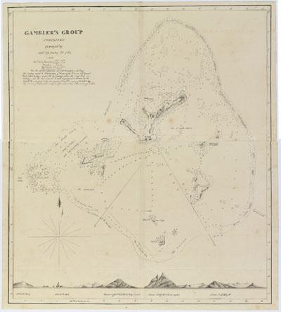 Carte des Gambier (1837-1840)