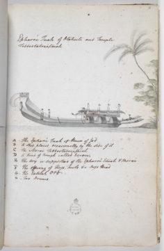 Pirogue double cérémonielle (1791-1793)