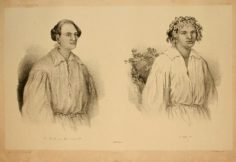 Le mari de la reine Pomare et  Poheno, jeune Taïtien (1846)