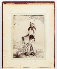 Marquisien tatoué avec casse-tête (1886)