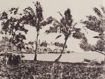 Bord de mer et pirogue (1859)
