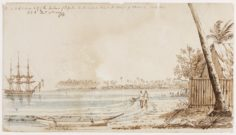 Port de Papeete à Tahiti (1832)