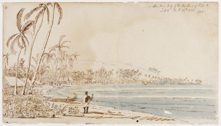 Vue du Port de Papeete (1832)