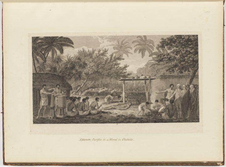 Sacrifice humain sur un marae de Tahiti (1785)