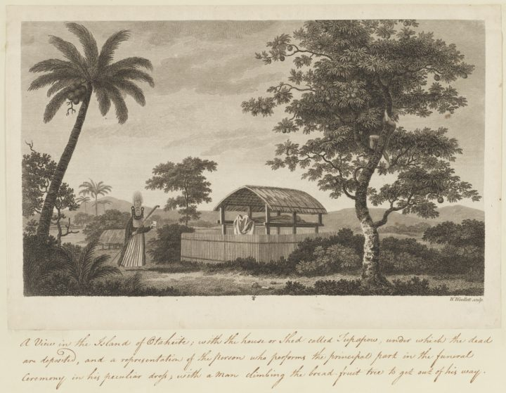 Plateforme funéraire à Tahiti (1773)