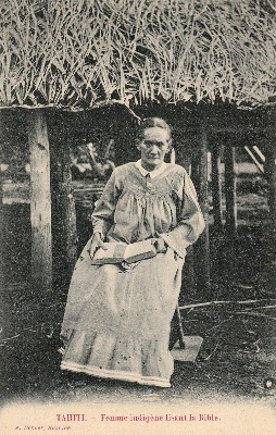Tahitienne lisant la bible (1900)