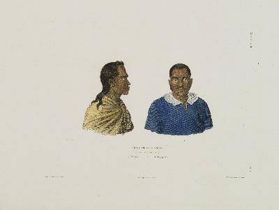 Chefs de l'isle Taïti : Otouré et Oupaparou (1826)