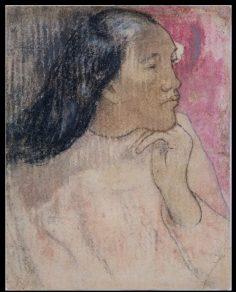 Tahitienne avec une fleur dans les cheveux (1892)