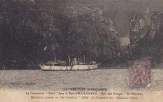 La canonnière « Zélée » dans la Baie d'Hanavave (1910)