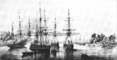 Protectorat  de Tahiti par Du Petit Thouars le 9 septembre 1842 (1850)