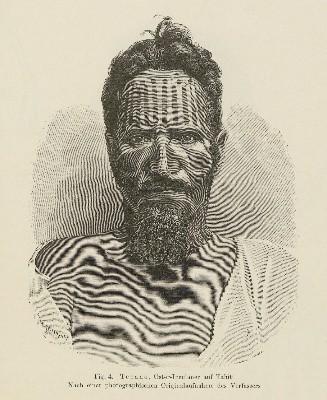 Tepano, habitant de l'île de Pâques à Tahiti (1899)