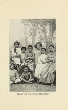 Groupe d'enfants tahitiens (1906)