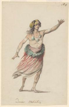 Costume d'un danseur de Tahiti (1785)