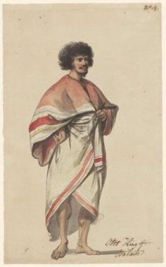 Costume de Otoo, roi de Tahiti (1785)