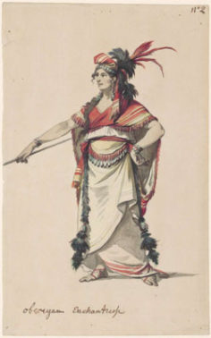 Costume de l'enchanteresse Oberea (1785)