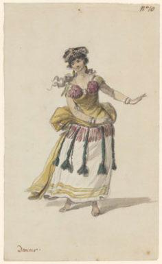 Costume d'une danseuse de Tahiti (1785)