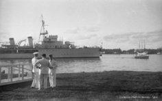 Arrivée du Savorgnan de Brazza à Papeete (1936)