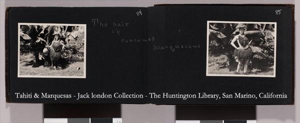 Jack London en costume de cheveux marquisien (1907)