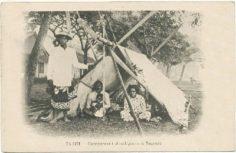 Campement de Tahitiens à Papeete