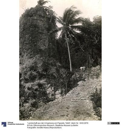 Route de Moumu à Makatea (1910)