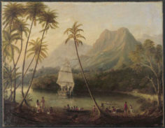 Une vue de Moorea (1820)
